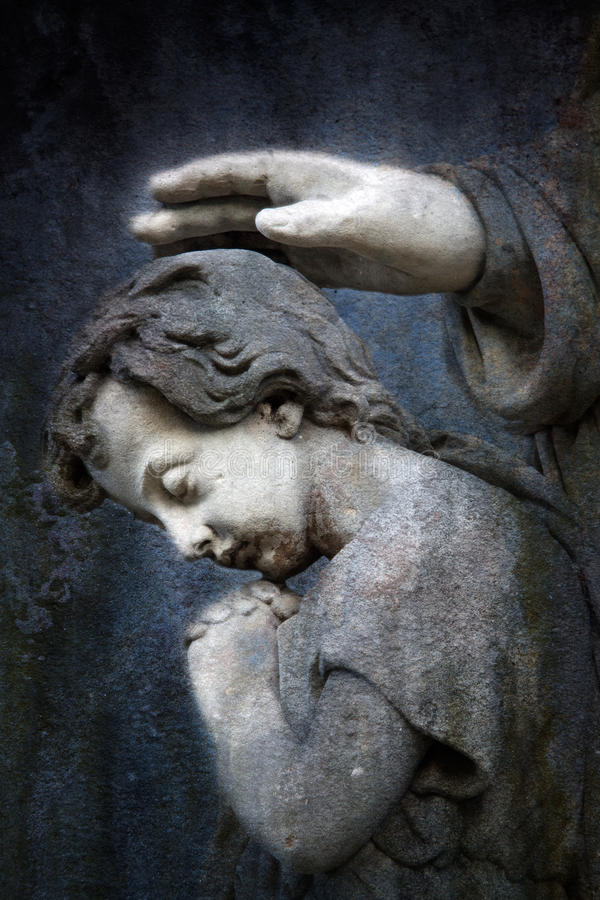 Child Praying stock photo