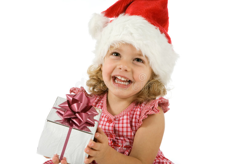 Child With Present Stock Image