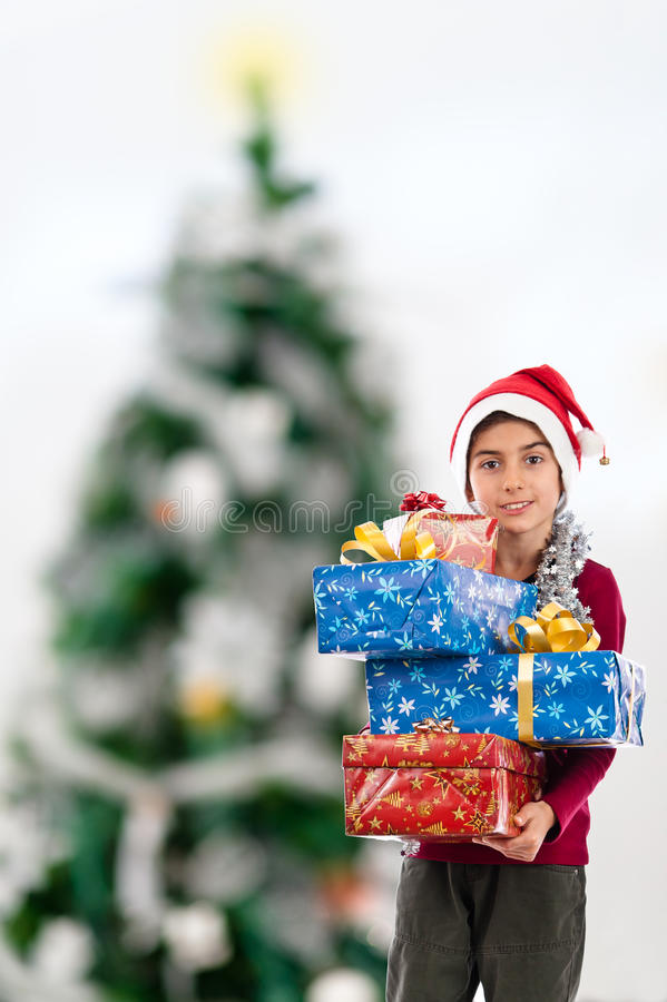 Download Child With Present Copy-space Stock Photo - Image: 22397174