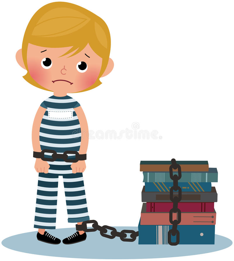 Child prisoner stock illustration