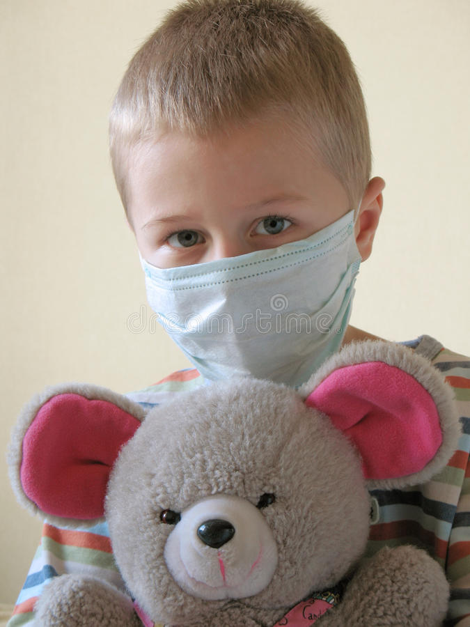 Download Child in protective mask stock image. Image of medical - 11608873
