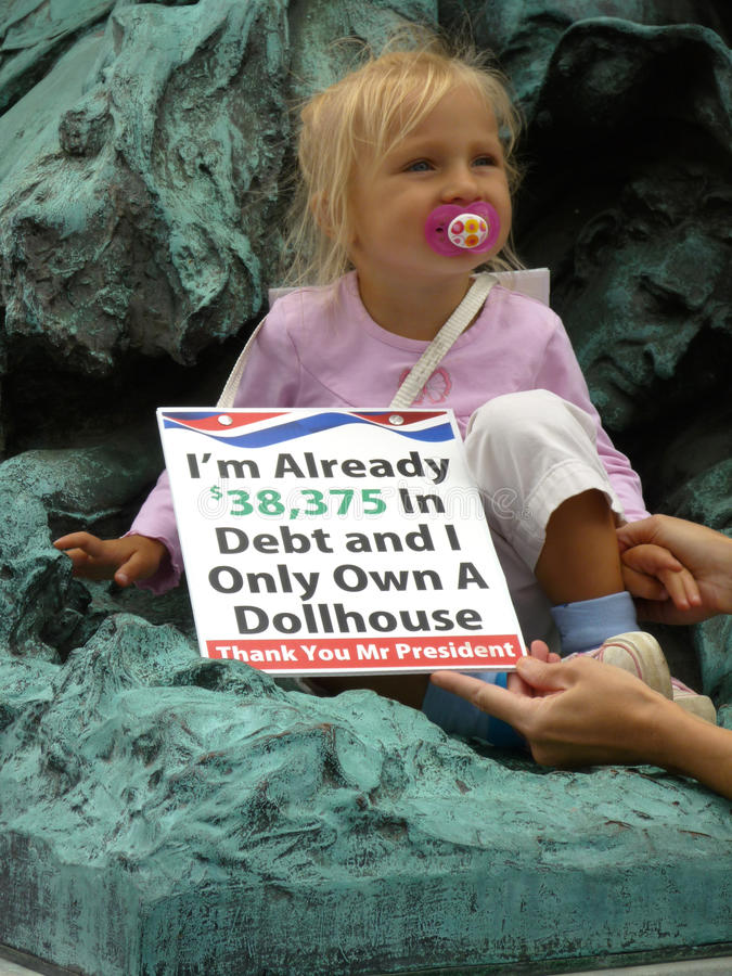 Child Protester royalty free stock image