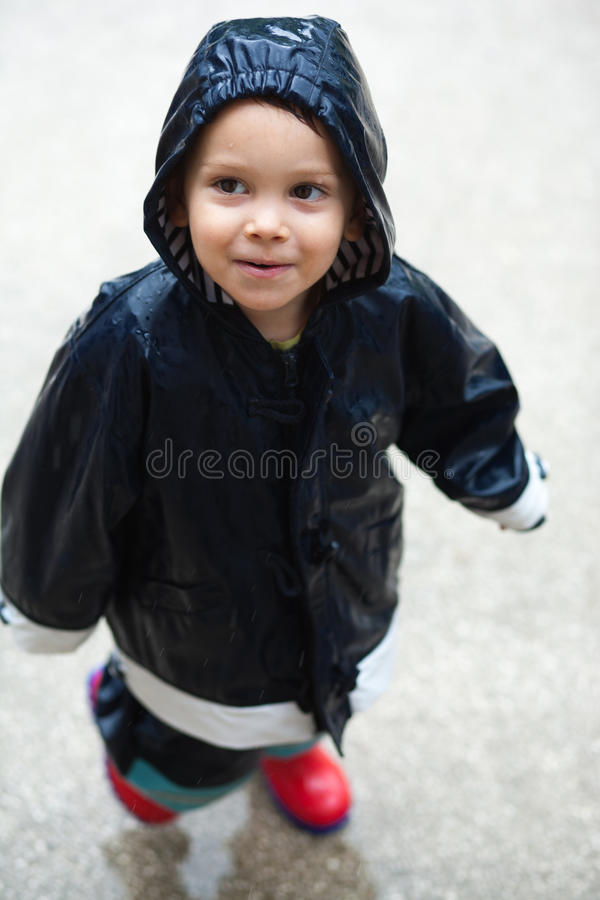 Download Child in rain stock photo. Image of autumn, outdoors - 20445848