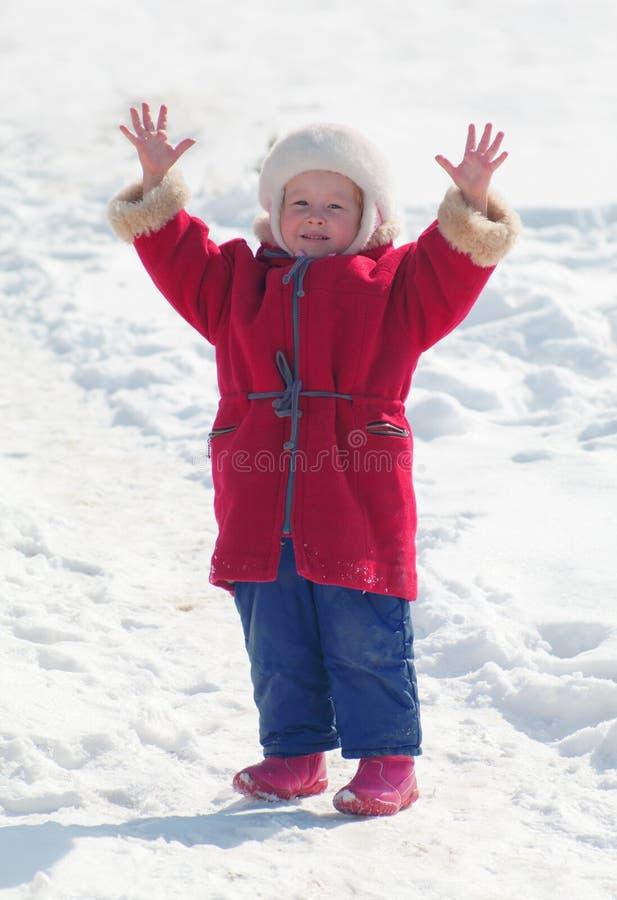 Download Child raises her hands up stock photo. Image of pleasure - 19028258