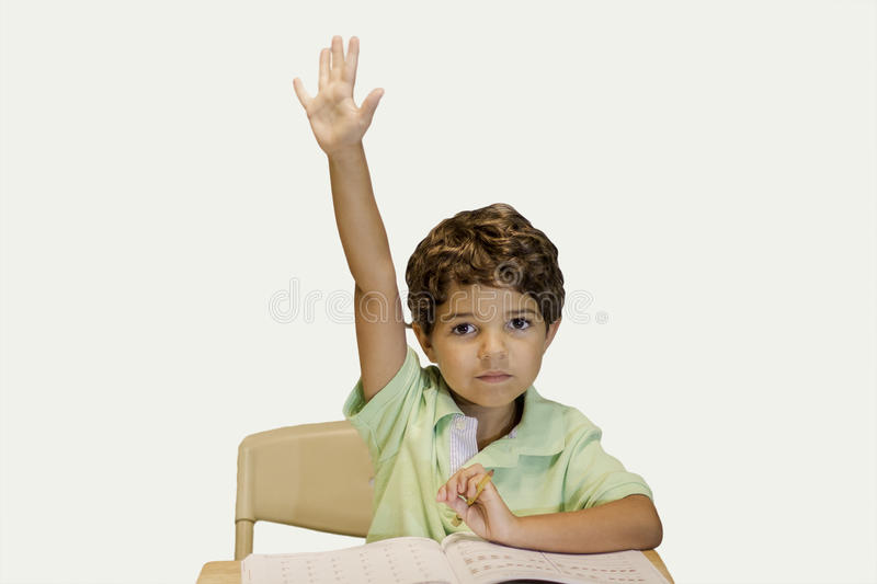 Download Child Raising Hand stock image. Image of little, white - 32836095