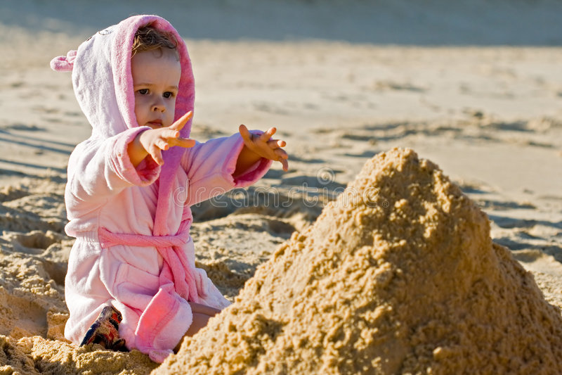 Download Child reaching stock image. Image of beach, sand, demanding - 2630787