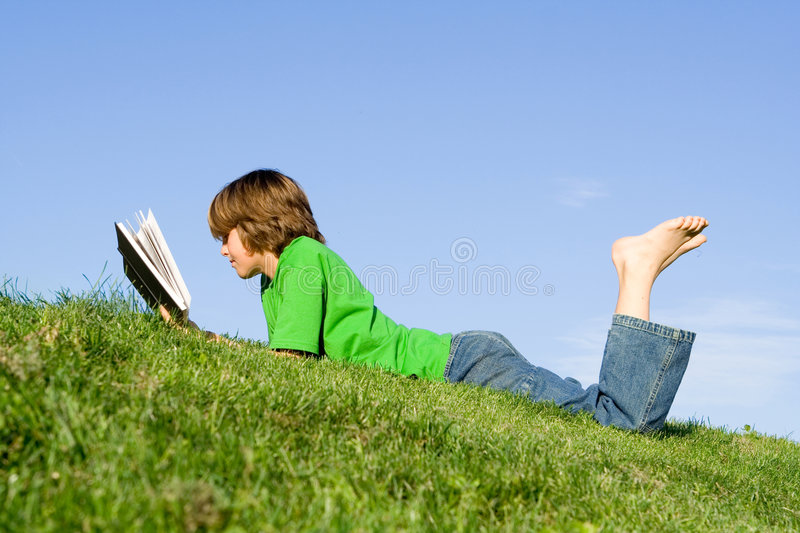 Child reading royalty free stock photo