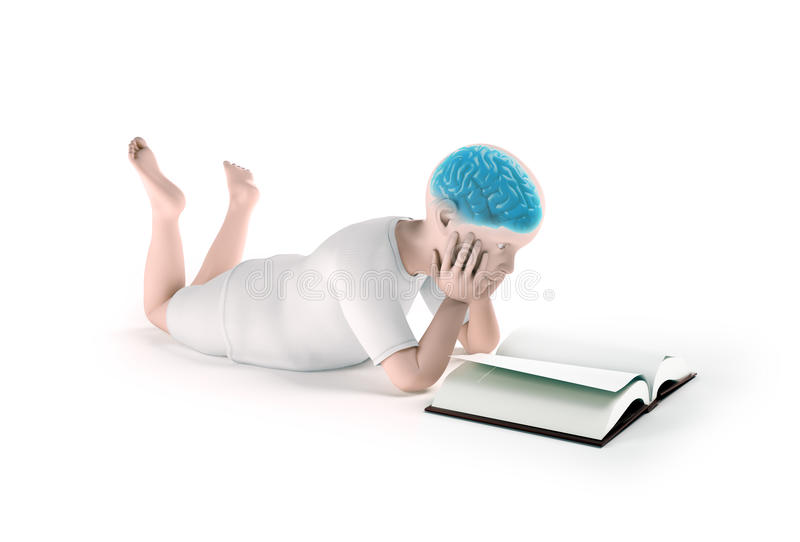 Download Child reading a book stock illustration. Image of development - 31024879