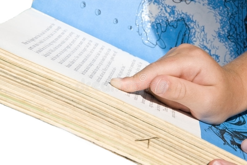 Download Child Reading/Pointing To Words Stock Photo - Image: 5962570