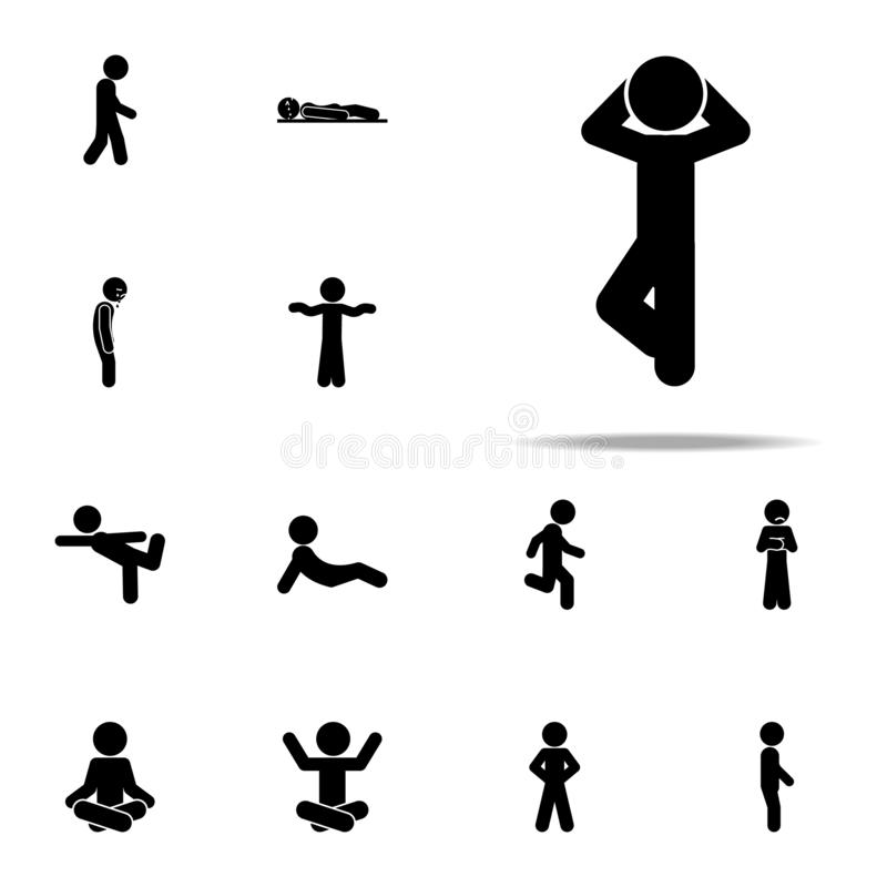 child, relax icon. child icons universal set for web and mobile stock illustration