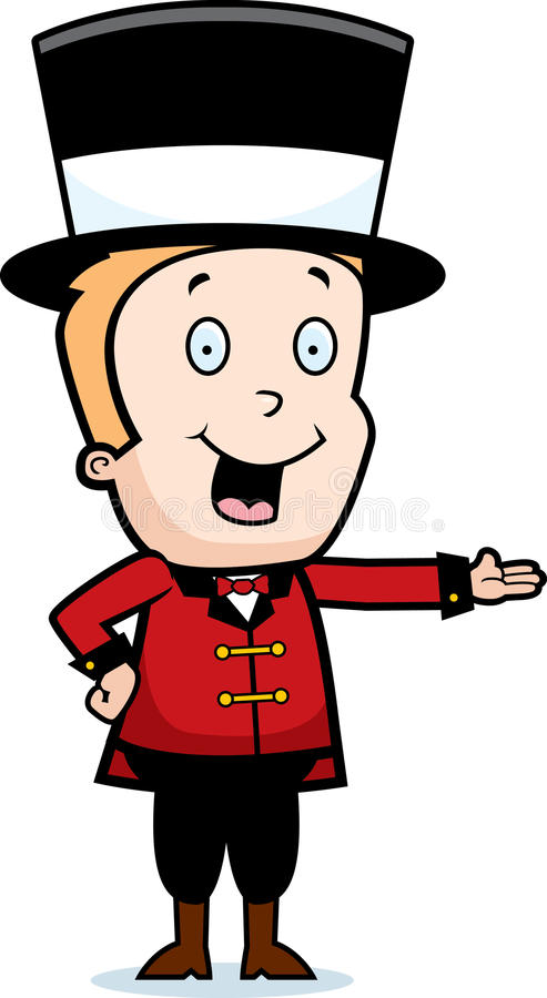 Download Child Ringmaster stock vector. Image of presenting, blond - 15787738