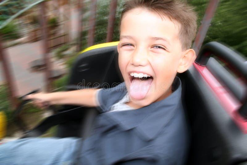 Child rollercoaster fun royalty free stock photos