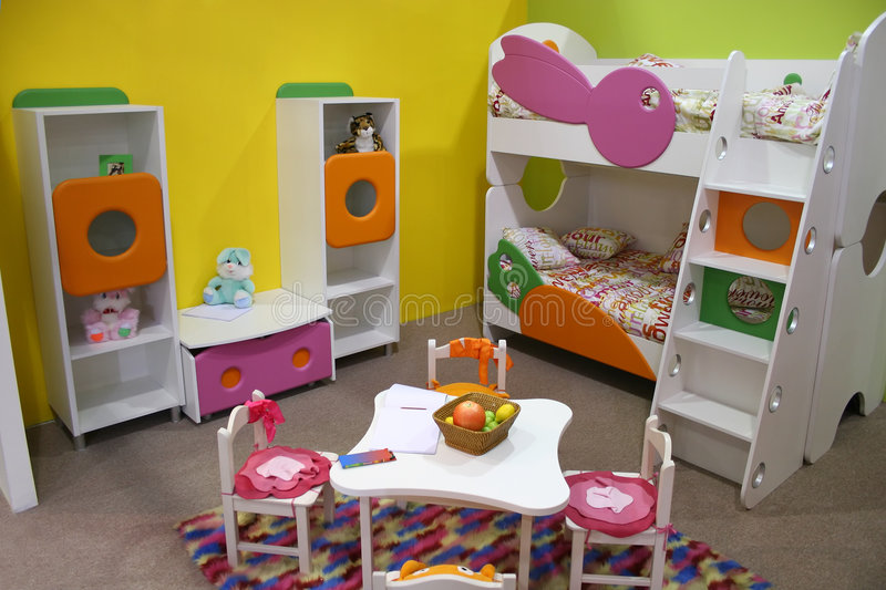 Download Child room, playroom stock image. Image of interior, bedroom - 1544323