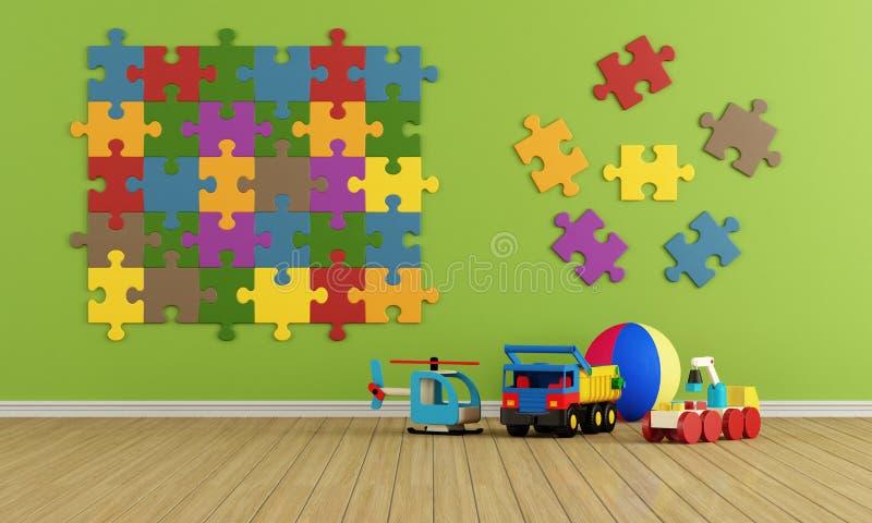 Child room stock illustration
