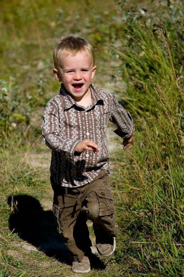 Child running stock image