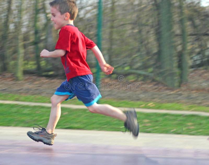 Child Running royalty free stock image