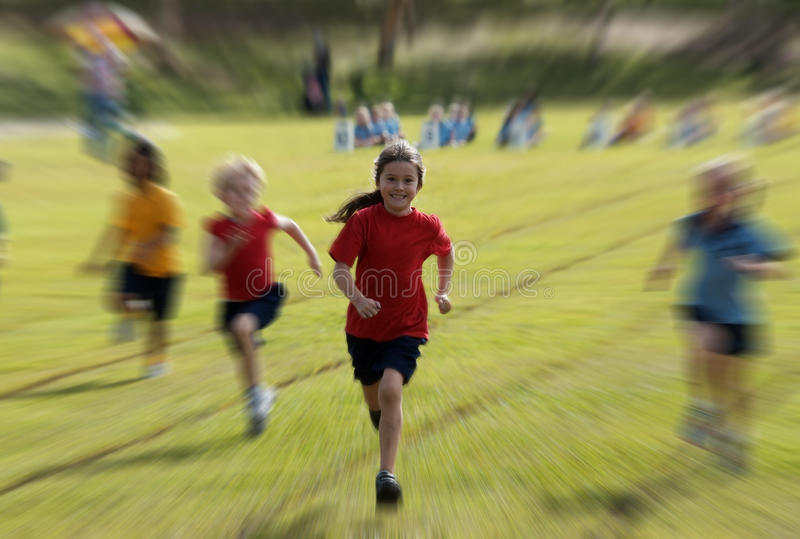 Download Child running stock image. Image of sprint, grass, healthy - 25448235