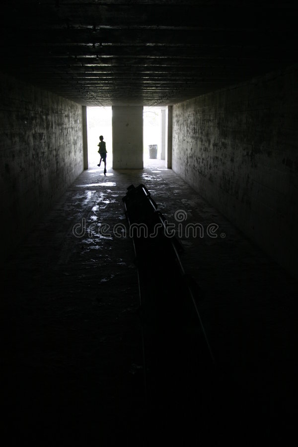 Download Child Running In Dark Room In Fort Desoto, Florida Stock Image - Image: 1041601