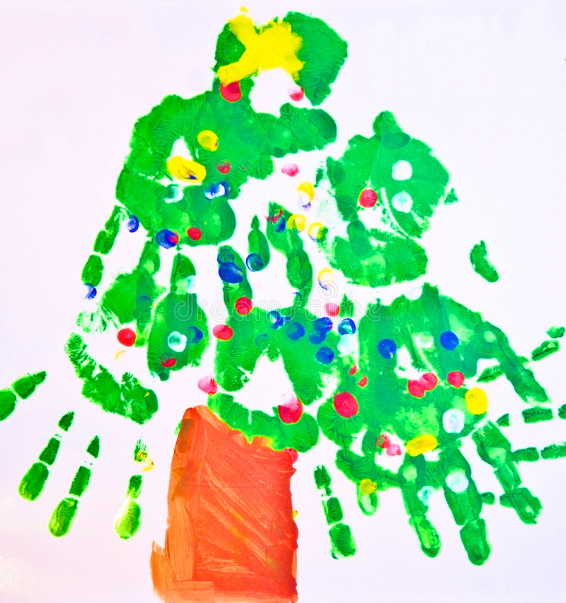 Download Child's Art Work/ Tree Royalty Free Stock Images - Image: 7544459
