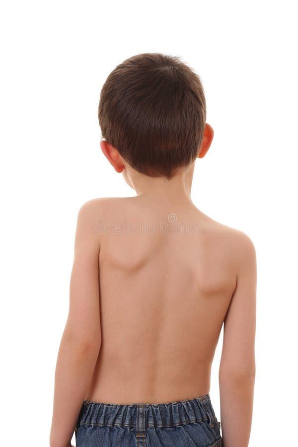 Child's back royalty free stock photos