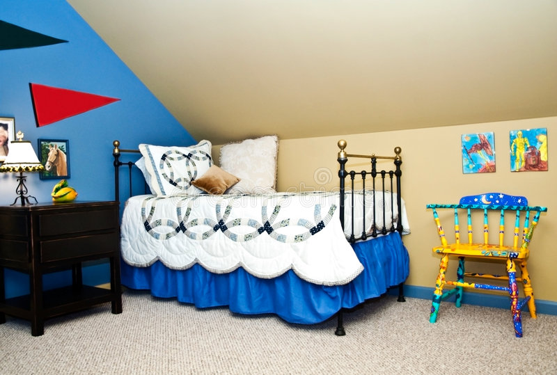 Download Child's Bedroom stock image. Image of room, iron, decorated - 7212869