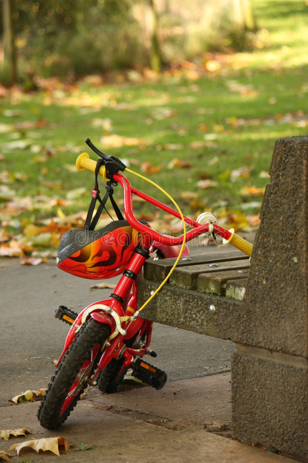Child's bicycle royalty free stock photography