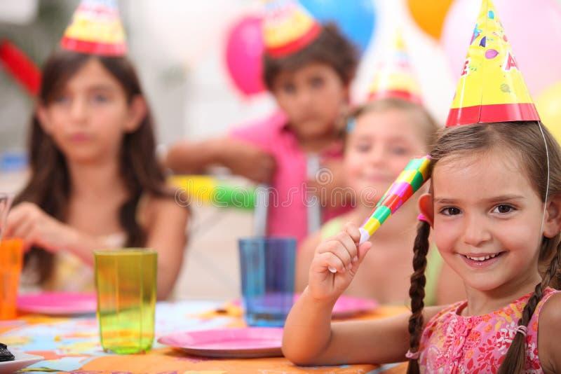 Child's birthday party stock image