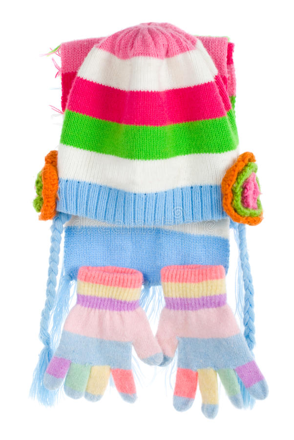Child s cap, scarf and gloves