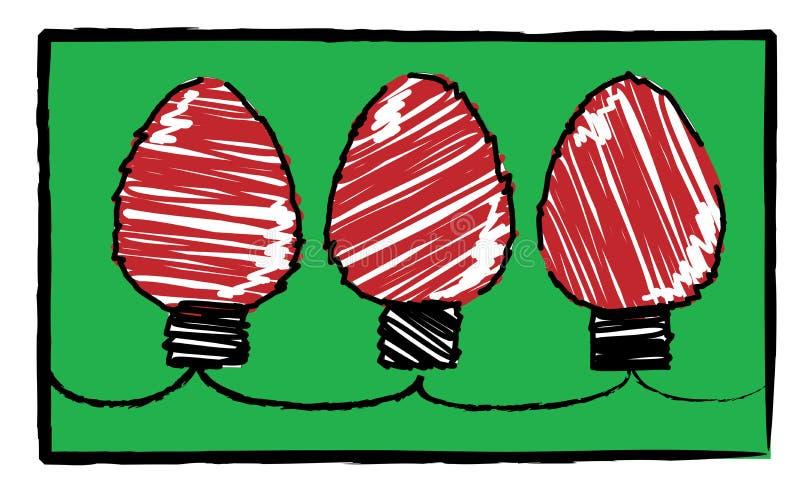 Child's christmas - red lights vector illustration