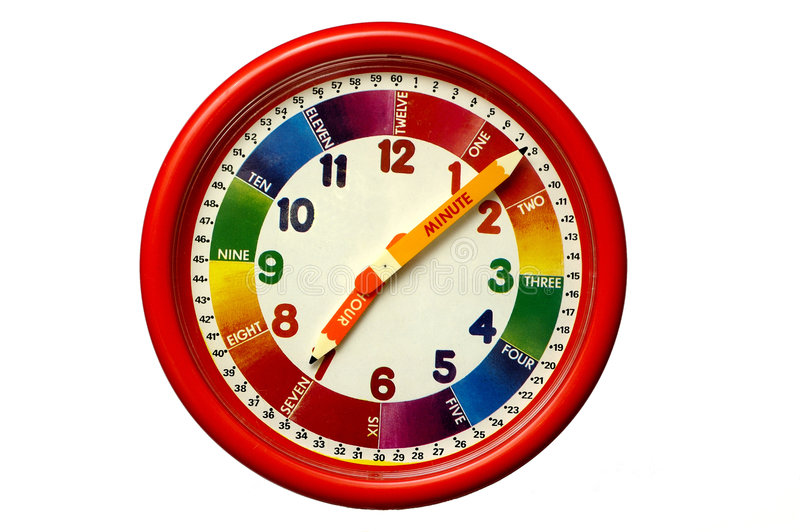 Download Child's Clock stock photo. Image of clock, training, teacher - 382712