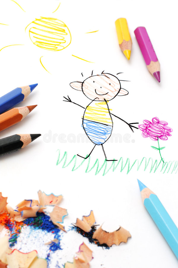 Free Child S Drawing Royalty Free Stock Photography - 8514577