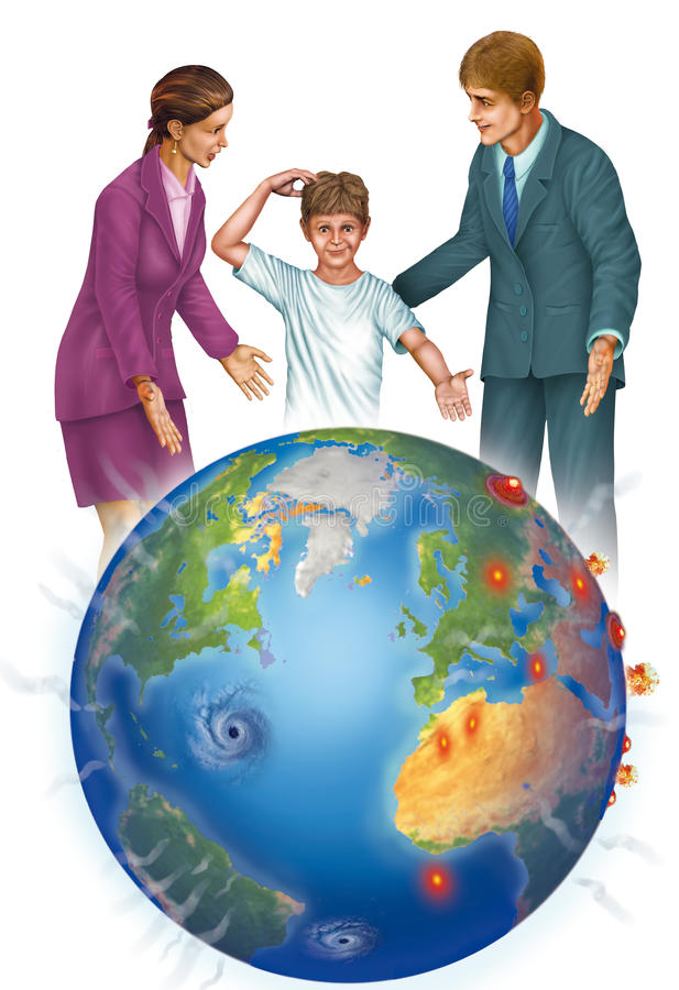 Download Destruction on earth stock illustration. Illustration of immorality - 30165748