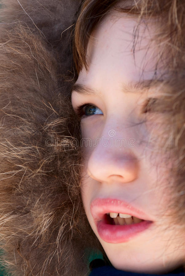 Child's expression royalty free stock photography