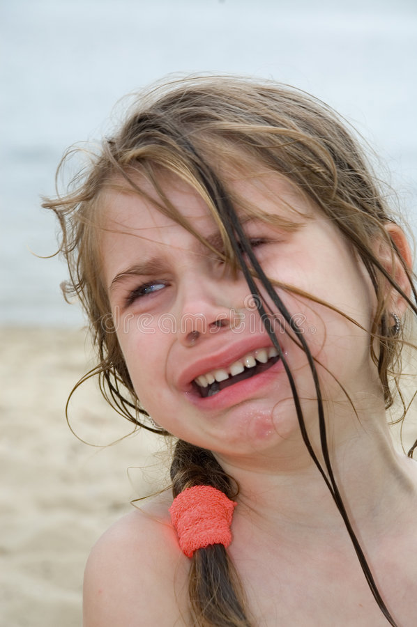 Child's grief stock photo