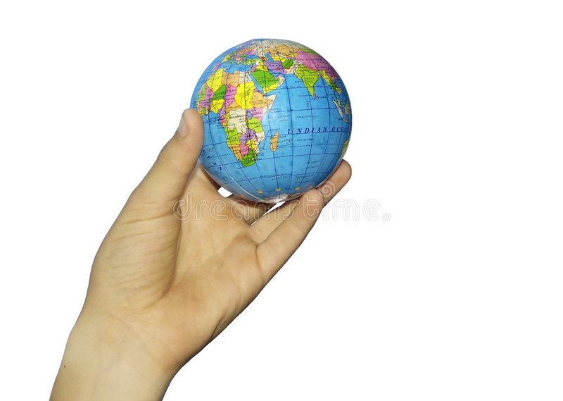 Download Child's hand and globe stock photo. Image of clouds, conceptual - 204530