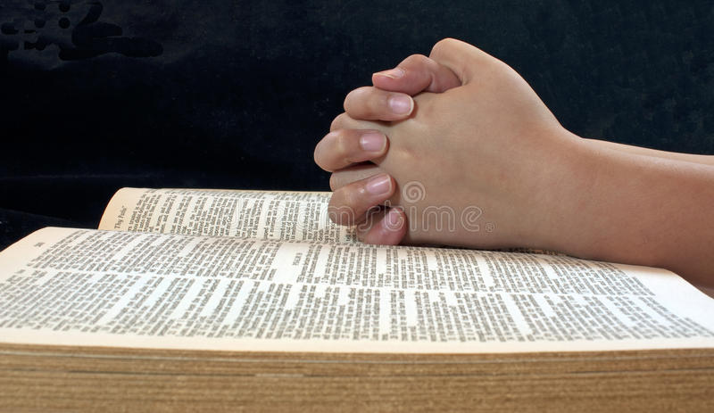 Childs Hands Praying royalty free stock photography