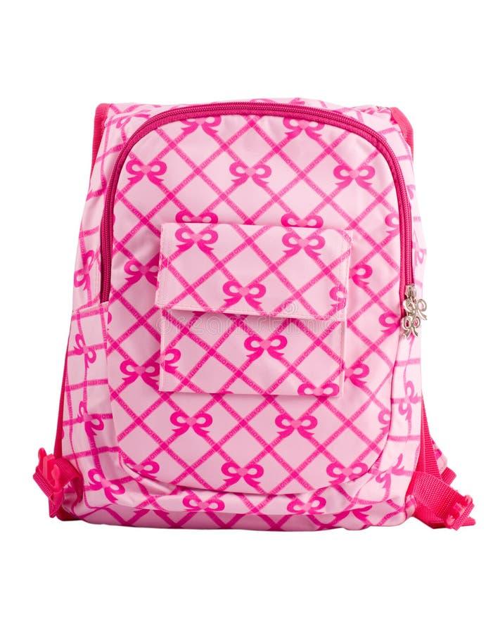 Child's knapsack. Isolated on white stock image