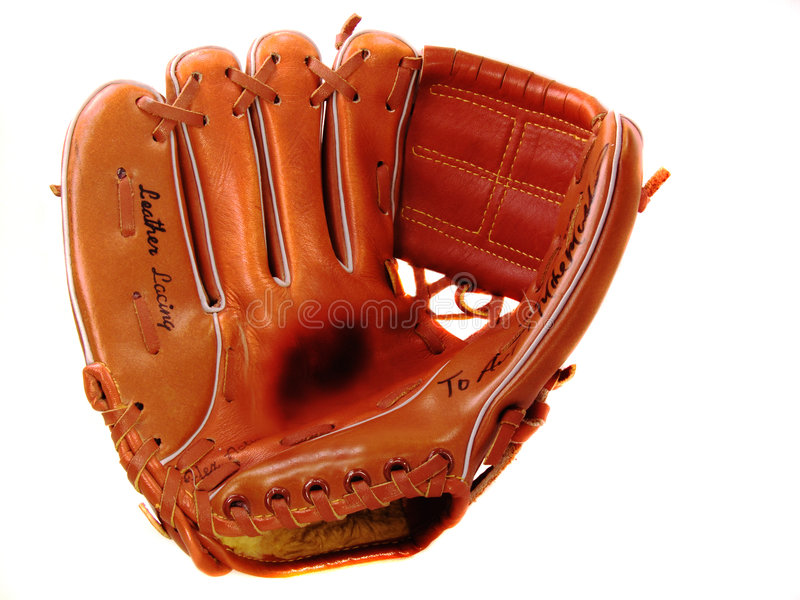 Child's Lefty Baseball Glove royalty free stock image