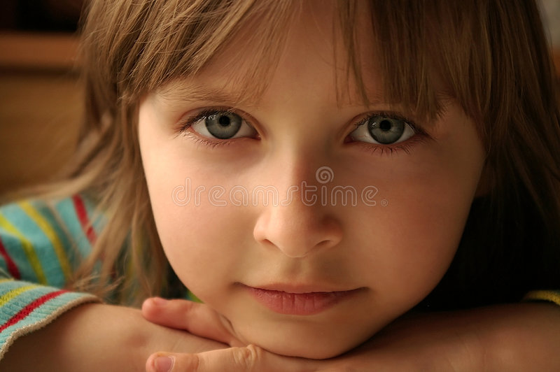 Download Child's look stock image. Image of beautiful, green, pose - 3619021