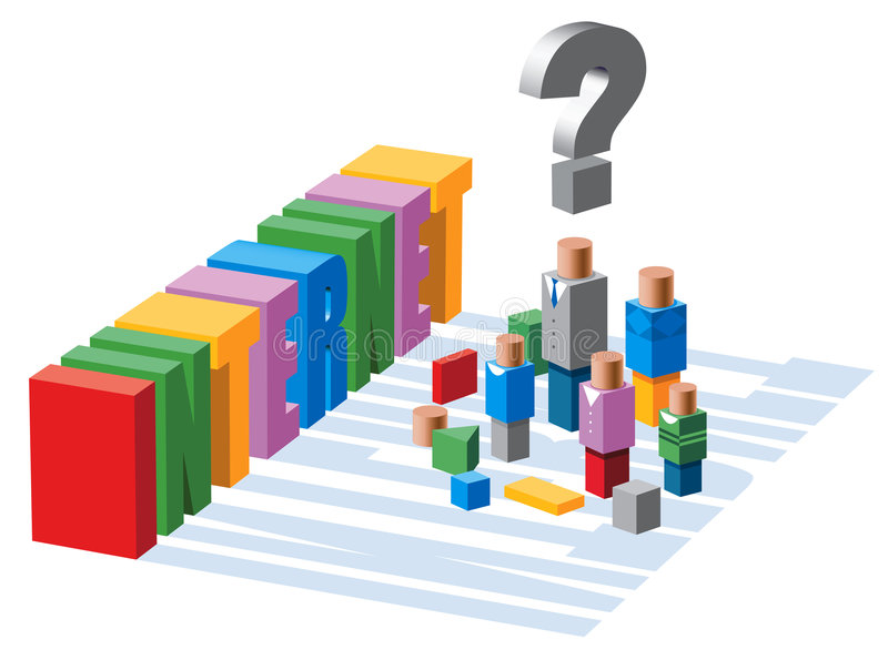 Download Child's Playing Blocks Of People And Internet Stock Illustration - Image: 759013