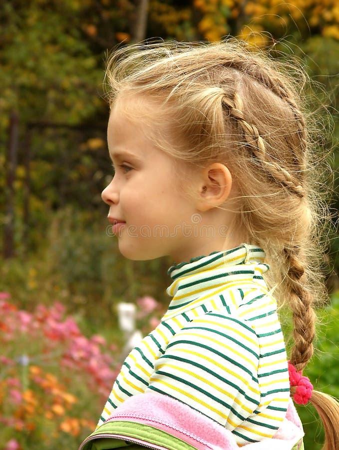 The child's profile stock image