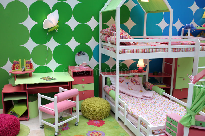 Child's room. Bed