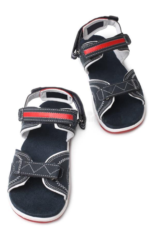 Child`s shoes. On white background stock image