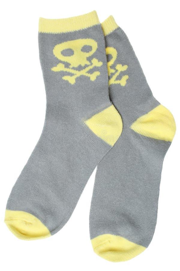 Child's socks. Isolated on white background stock photo
