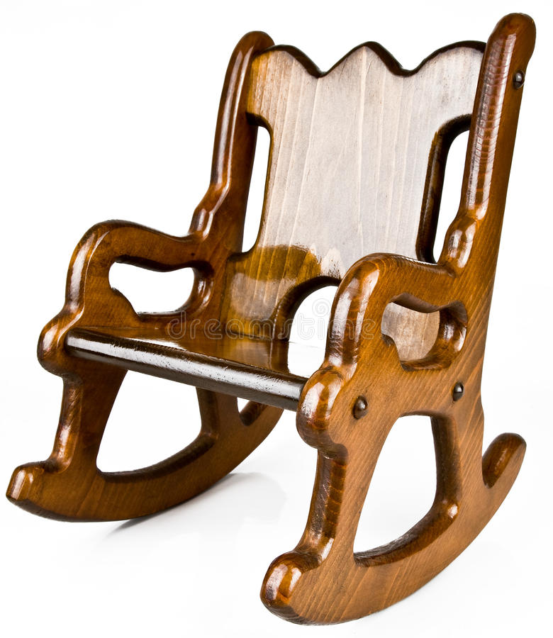 Download Childu0027s Solid Wood Rocking Chair Stock