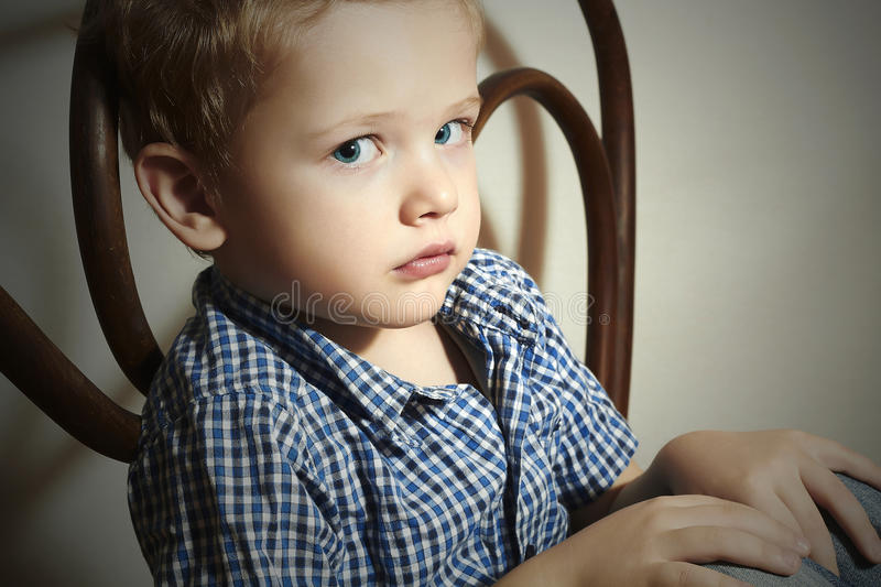 Download Child. Sad Little Boy.Fashion Children.Emotion Stock Photo - Image: 39349384
