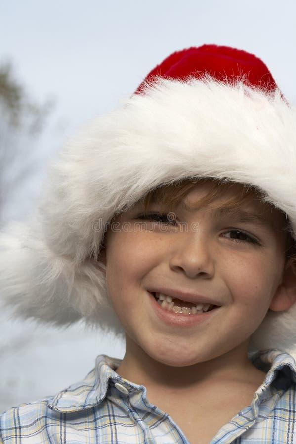 Child santa royalty free stock photo