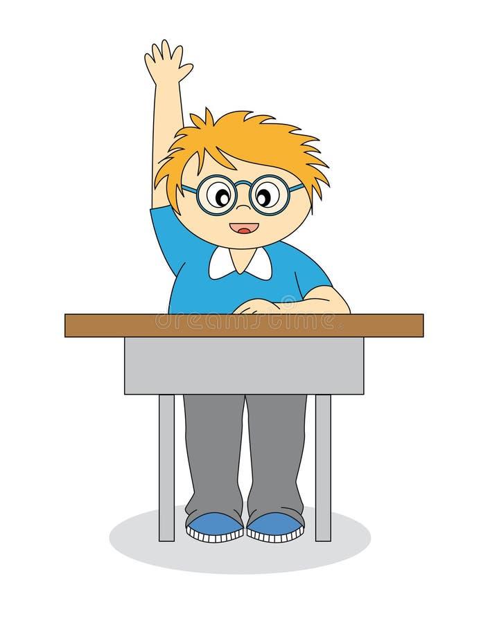Child in school royalty free illustration