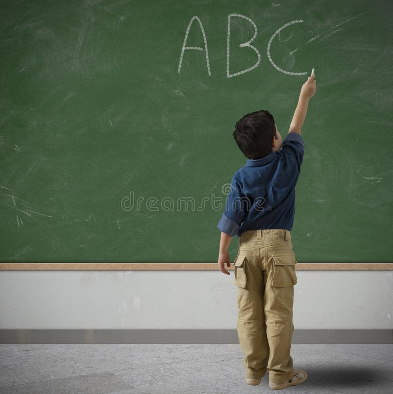 Child at school royalty free stock images