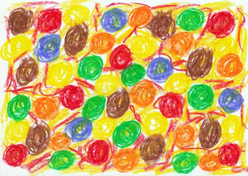 Child scribble royalty free illustration